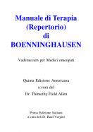 Manuale di Terapia (Repertorio) di Boenninghausen