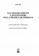 Gli Oligoelementi Catalizzatori Nella Pratica Quotidiana - Sal Jean