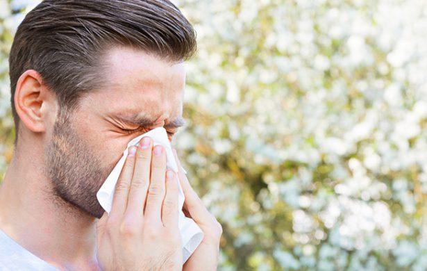 Rinite allergica in uomo di ventott'anni